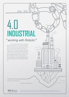 Koncepcja plakat przemysłowy 4.0