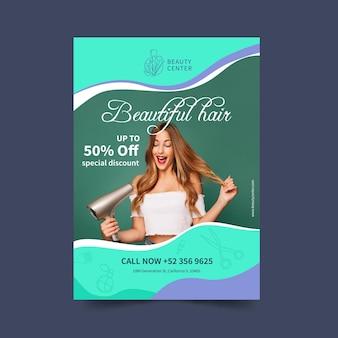 Koncepcja plakat salon piękności