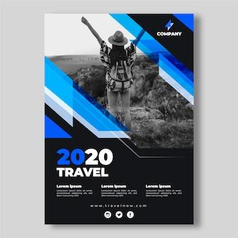 Koncepcja plakat szablon podróży