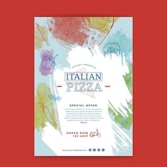 Koncepcja plakatu kuchni włoskiej