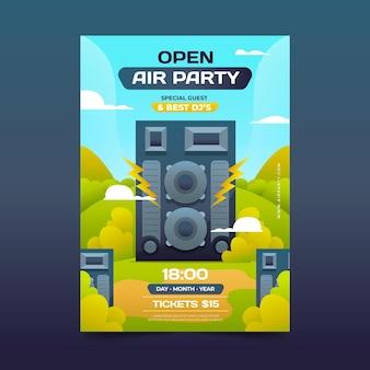 Koncepcja plakatu party na świeżym powietrzu