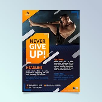 Koncepcja plakatu sportowego