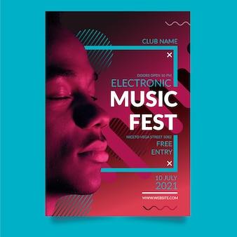 Koncepcja plakatu wydarzenia muzycznego 2021