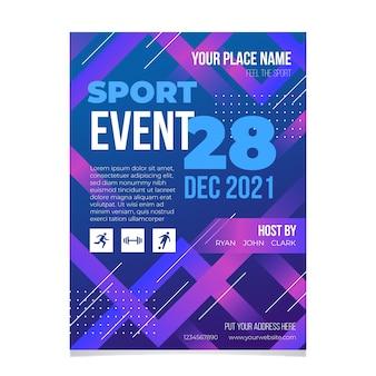Koncepcja plakatu wydarzenia sportowego 2021