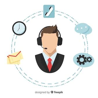 Koncepcja płaski agent call center