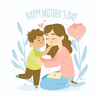 Koncepcja płaski dzień matki