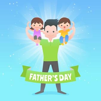 Koncepcja płaski dzień ojca