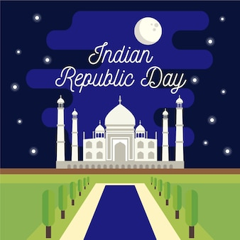 Koncepcja płaski dzień republiki indii