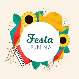 Koncepcja płaski festa junina