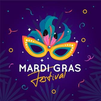 Koncepcja płaski mardi gras