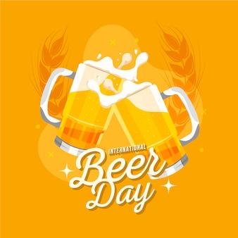 Koncepcja płaski międzynarodowy dzień piwa