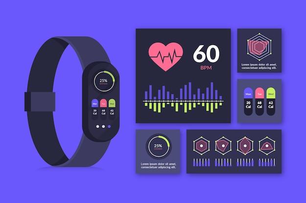 Koncepcja płaski monitor fitness