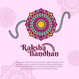 Koncepcja płaski raksha bandhan