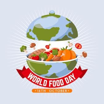 Koncepcja płaski światowy dzień żywności