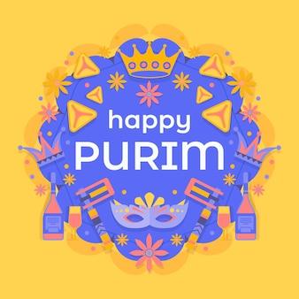 Koncepcja płaski szczęśliwy dzień purim