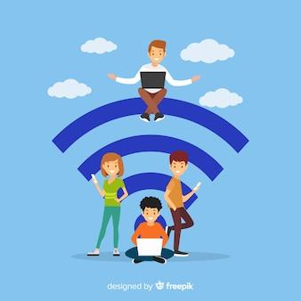 Koncepcja płaski wifi