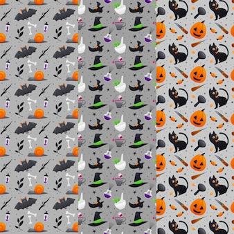 Koncepcja płaskich wzorów halloween