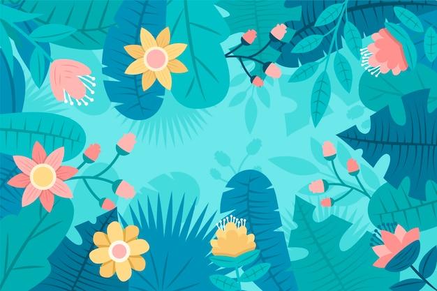 Koncepcja płaskie streszczenie tło kwiatowy