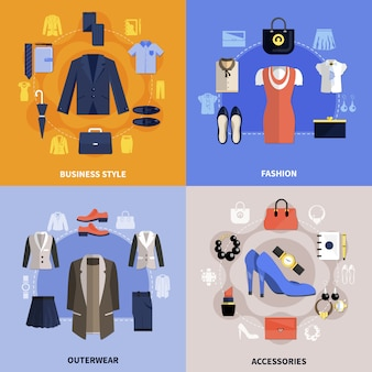 Koncepcja płaskie ubrania