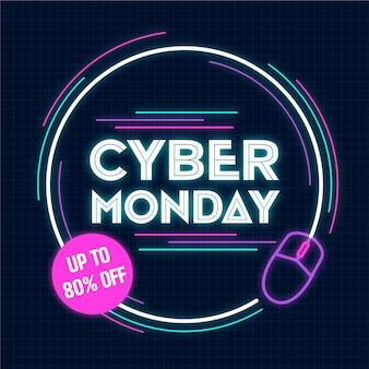 Koncepcja płaskiego deisgn cyber poniedziałek