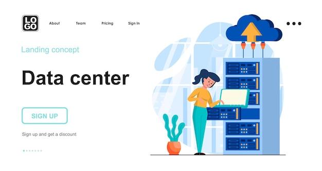 Koncepcja płaskiej konstrukcji centrum danych