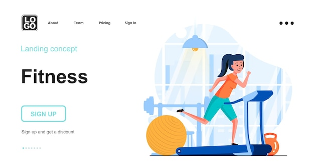Koncepcja płaskiej konstrukcji treningu fitness