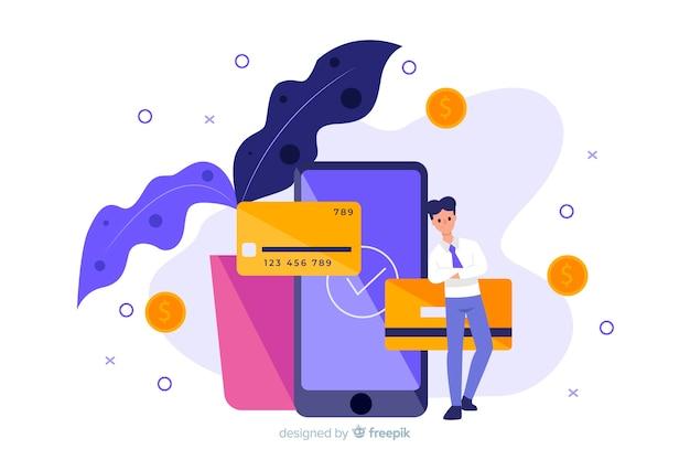 Koncepcja płatności kartą kredytową dla strony docelowej