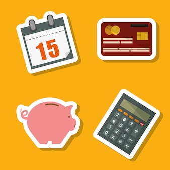 Koncepcja podatków z ikona designu