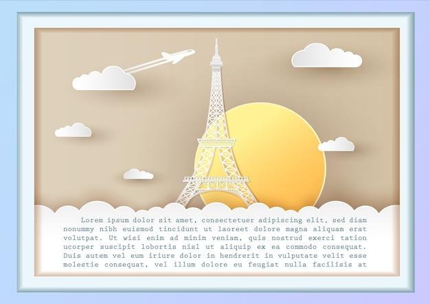 Koncepcja podróży beautiful of eiffel france, paris