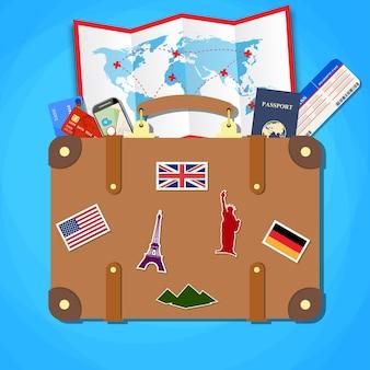 Koncepcja podróży i turystyki.