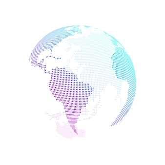 Koncepcja połączenia sieci globalnej. wizualizacja dużych zbiorów danych. komunikacja społecznościowa w światowych sieciach komputerowych. technologia internetowa. biznes. nauka. ilustracja wektorowa