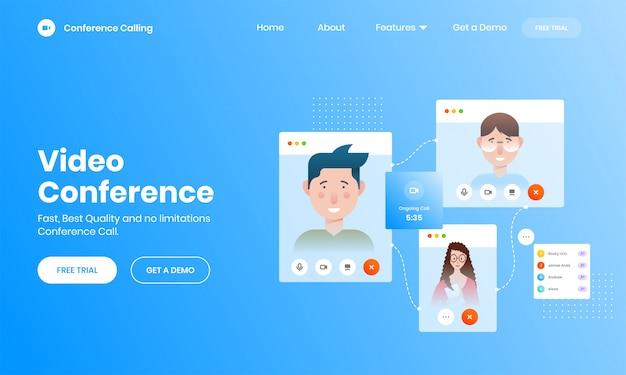 Koncepcja połączenia wideo online z ekranem smartfona