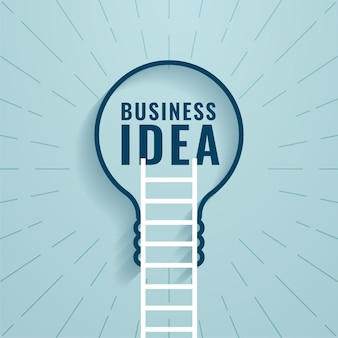 Koncepcja pomysłu na biznes z drabiną i żarówką