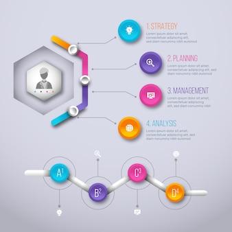 Koncepcja postępu gradientu infographic