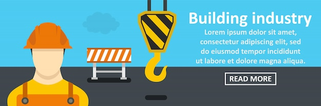 Koncepcja pozioma banner branży budowlanej