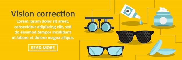 Koncepcja pozioma transparentu korekcji wzroku