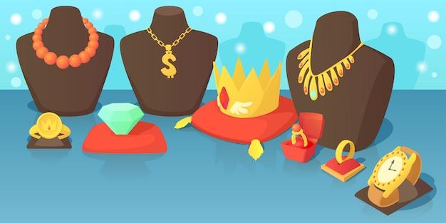 Koncepcja poziomy baner biżuterii