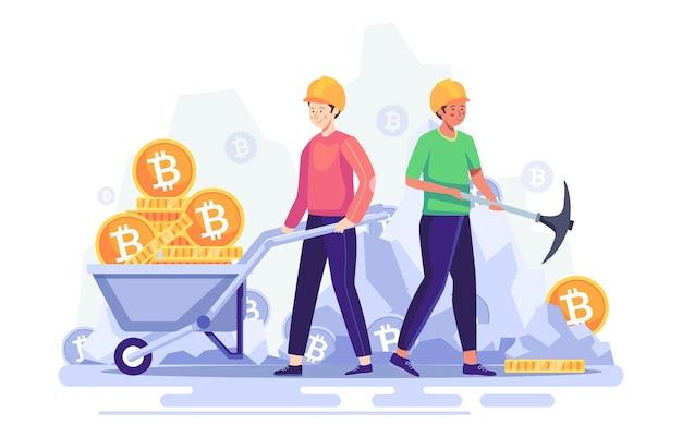 Koncepcja pracownika zdobądź duże pieniądze na monety