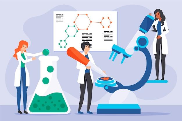 Koncepcja pracy naukowców