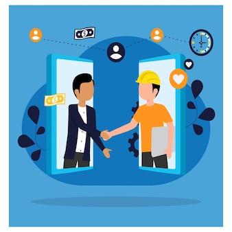 Koncepcja pracy online gig economy