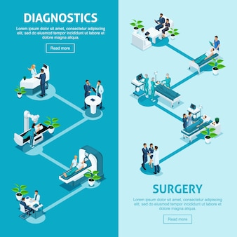 Koncepcja pracy szpitala, placówki medycznej, diagnoza pacjenta i wykrycie choroby, diagnoza, zabieg chirurgiczny