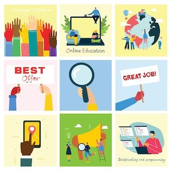 Koncepcja pracy zespołowej, biznesu i uruchamiania.