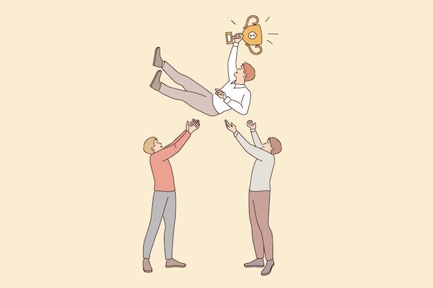 Koncepcja pracy zespołowej przywództwa sukcesu w biznesie