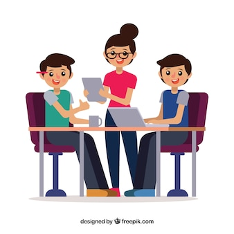 Koncepcja pracy zespołowej z kolegami