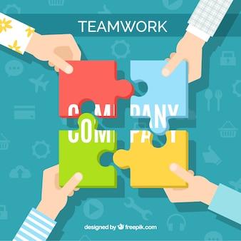 Koncepcja pracy zespołowej z płaska konstrukcja