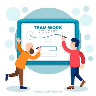 Koncepcja pracy zespołowej z prezentacji biznesowych