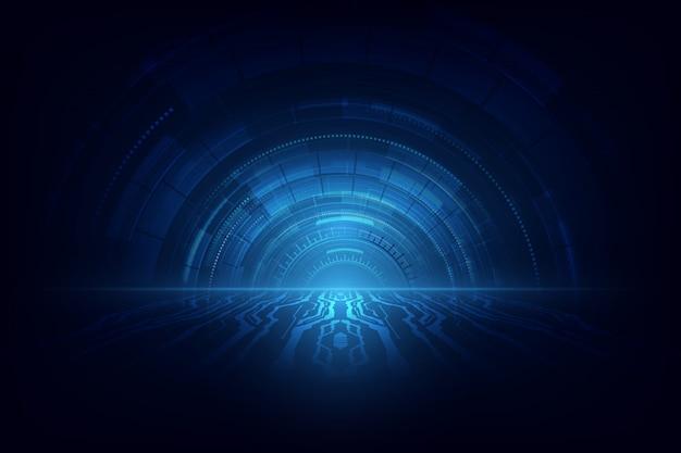 Koncepcja prędkości streszczenie technologii.