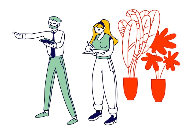 Koncepcja procesu burzy mózgów lub pracy. płaskie ilustracja kreskówka