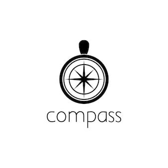 Koncepcja projektowania graficznego logo kompasu. edytowalny element kompasu, może być używany jako logotyp, ikona, szablon w internecie i druku
