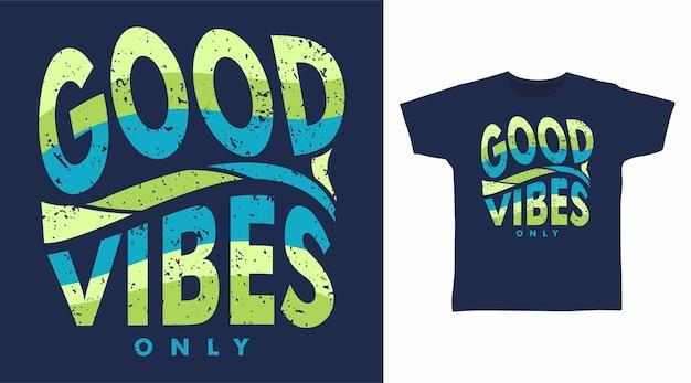 Koncepcja projektowania koszulki z dobrymi wibracjami
